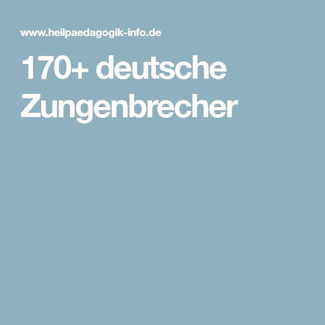 170+ deutsche Zungenbrecher
