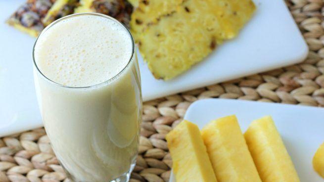 Receta de Batido o smoothie de coco y piña