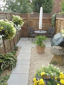 small courtyard back garden - Courtyard Design Ideas