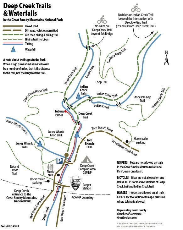 Deep Creek Tube Rentals in North Carolina near Bryson City - Cherokee Tubing, Smoky Mountain Creek Tubing