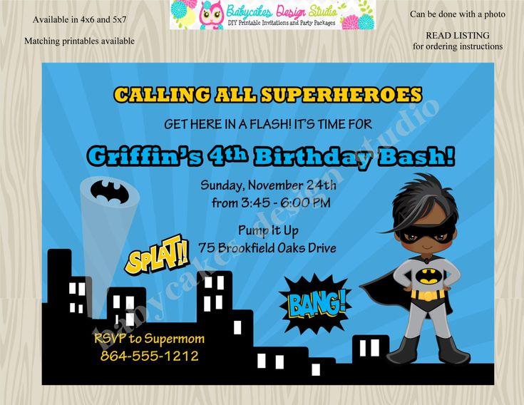 Best 25+ Superhero invitations ideas on Pinterest Superhero - birthday invitation card templates free download