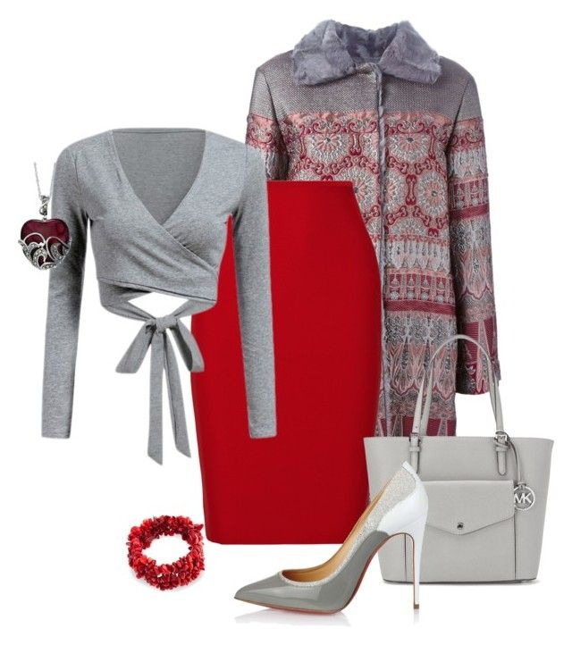 """Two Colors"" by eva-kouliaridou ❤ liked on Polyvore featuring Alberta Ferretti, Roland Mouret, Michael Kors, Christian Louboutin and Bling Jewelry"