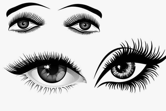 Sketch Black Cartoon Eyes Black Sketch Cartoon Eyes Eyelash Png