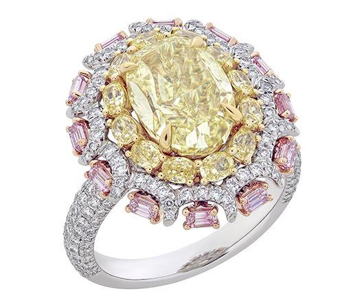 """Браслет """"Tremblant"""" от Nirav Modi с желтыми, розовыми и бесцветными бриллиантами"""
