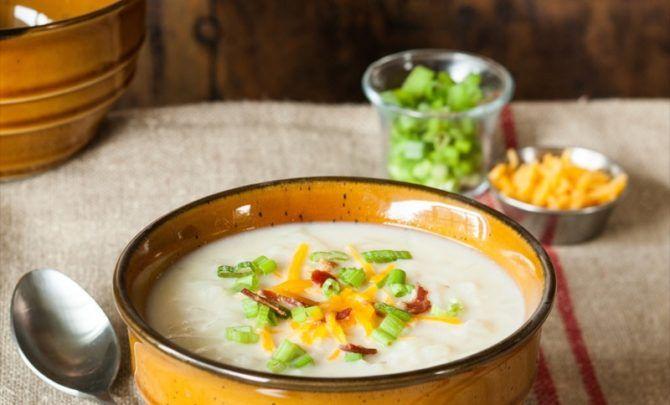 Hash-Brown Potato Soup adjust for plant based