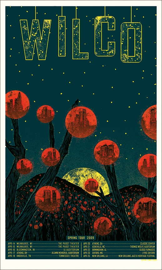 """Kevin Tong's """"Wilco"""" poster."""