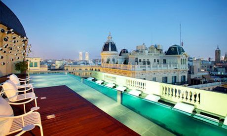 Hit the deck … the rooftop pool is the crowning glory of the Ohla Hotel, Barcelona