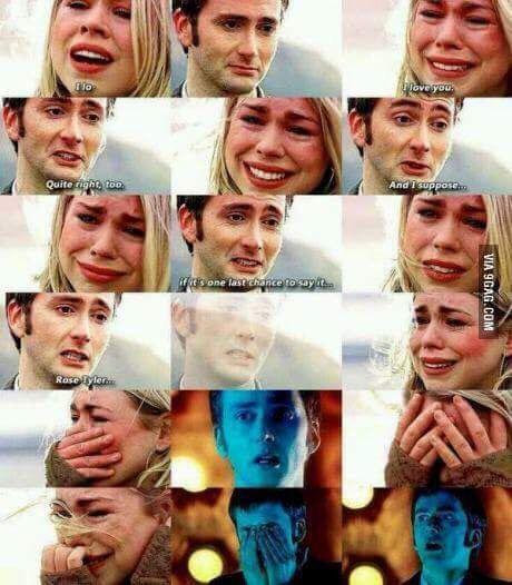Non smetterò mai di piangere per questa scena, e non smetterò mai di adorarli assieme! #DoctorWho #TenxRose
