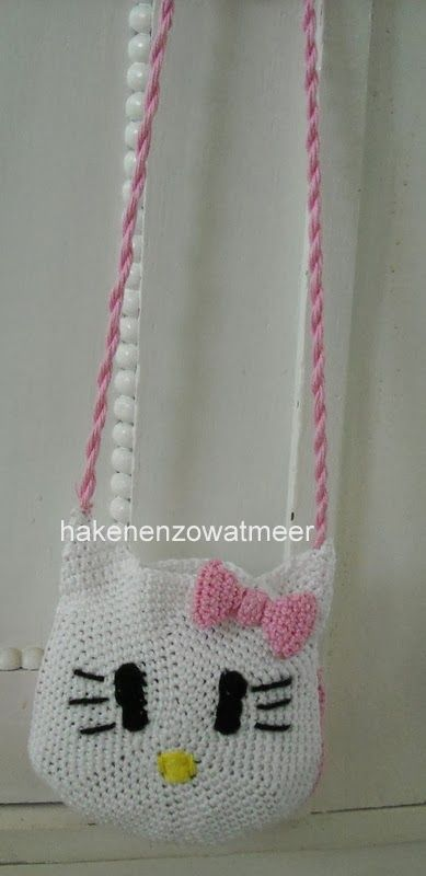 Haakpatroon hello kitty tasje