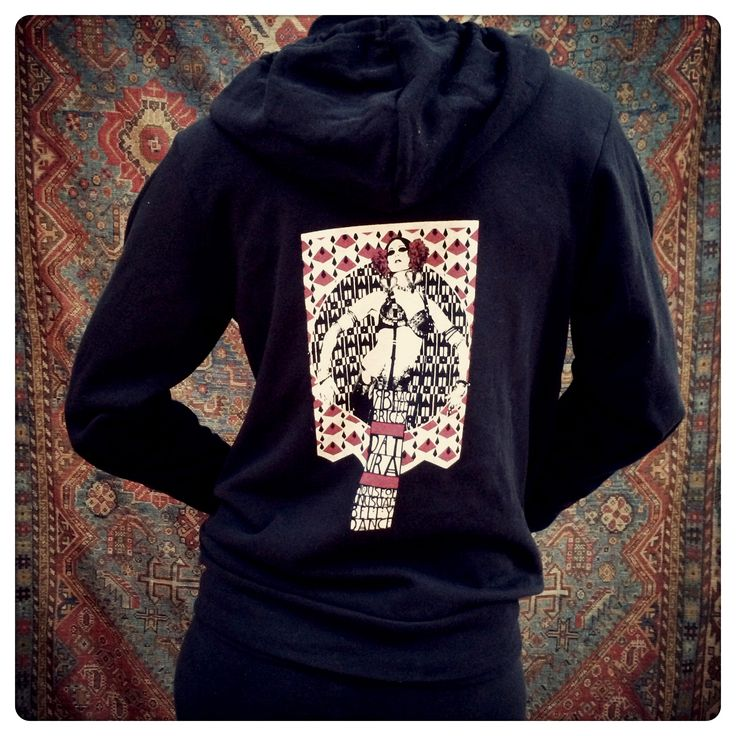"""""""Vienna"""" Cotton Blend Fleece Hoody / Rachel Brice's Somewhat International Online Bazaar"""