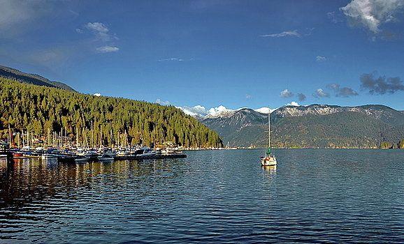Alex Lyubar Fine Art Photography  Marina in Deep Cove by Alex Lyubar  #AlexLyubarFineArtPhotography #VancouverCanada #DeepCove #ArtForHome #FineArtPrints