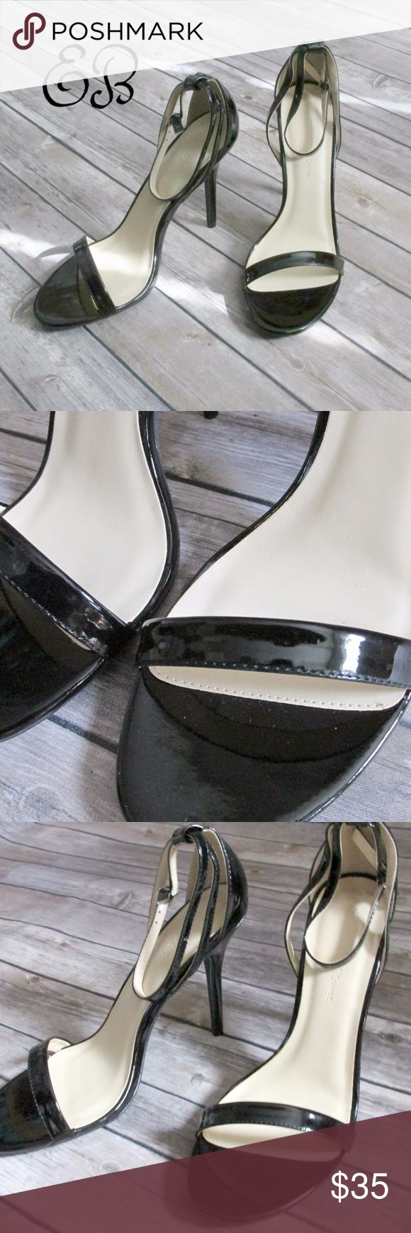 "WILD DIVA Lounge Adele Black Stilettos Size 10 Wild Diva Lounge Adele Black Stilettos Size 10  Condition: New In Box Brand: Wild Diva Lounge Type: Sandal Style: Stiletto  Color: Black  Size: 10 Heel Height: 4.5"" Materials: Vegan Leather  DD 14.7.17 Wild Diva Shoes Heels"