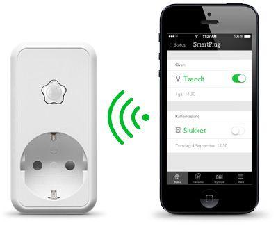 Styr belysning og hjemmeelektronik med SmartPlug, der er koblet til din Verisure tyverialarm