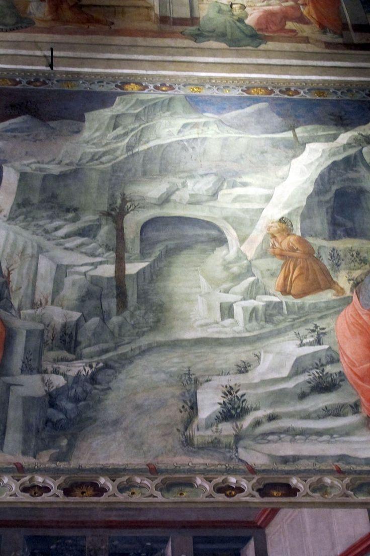 FILIPPO LIPPI (Fra) - San Giovanni nel deserto, dettaglio - affresco - 1452-1465 - Cappella Maggiore, Cattedrale di Santo Stefano, Prato