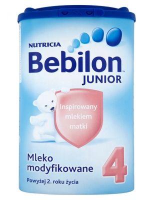 BEBILON 800g Junior 4 Mleko modyfikowane powyżej 2 roku  • odpowiednia kompozycja na ten etap rozwoju dziecka • wzbogacone w witaminy i minerały • opatentowany zestaw oligosacharydów Immunofortis