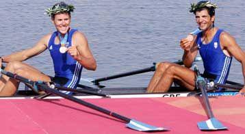 Athens 2004 bronse medal Beijing 2008 silver medal Vasilis Polymeros and Nikos Skiathitis