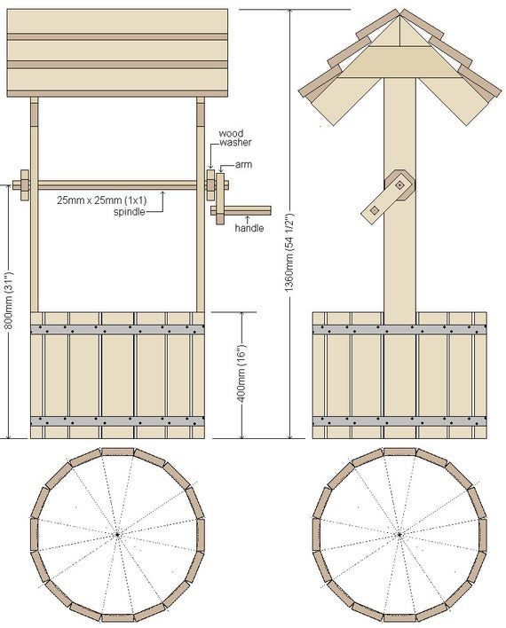 Plans For A Wooden Wishing Well Pdf Downloadable File