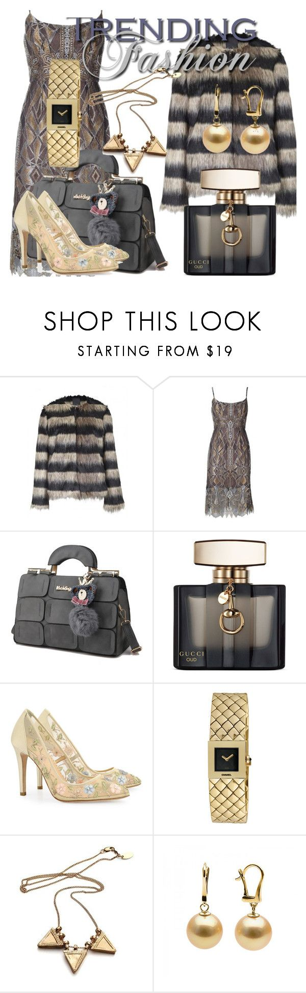 """""""Fashion Trending"""" by drahuschka on Polyvore featuring Ichi, BCBGMAXAZRIA, Gucci and Chanel"""