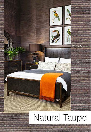 Handmande grass weave wallpaper :: Serenity Interiors