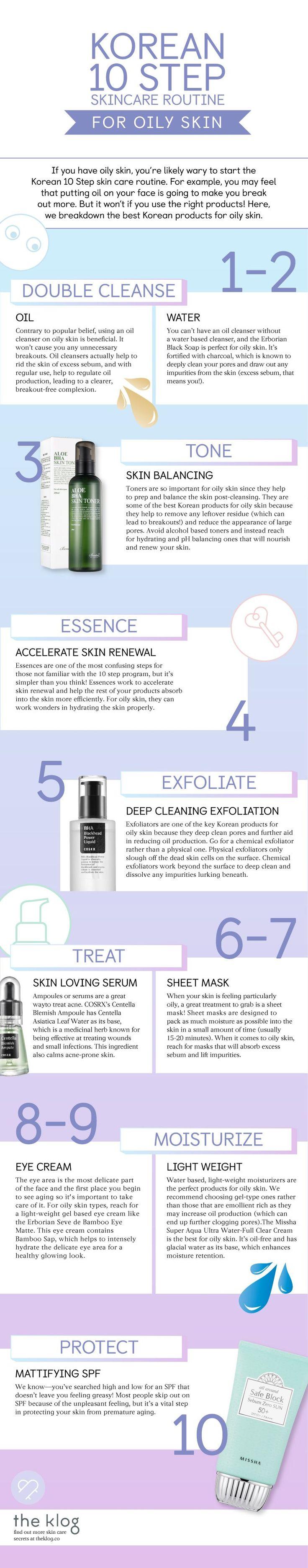 The Korean 10 Step Routine for Oily Skin
