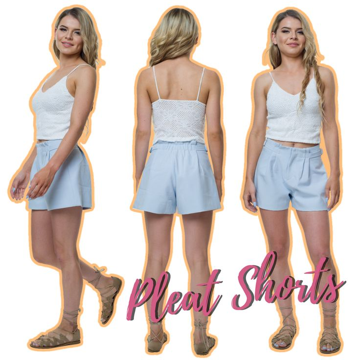 Keep it simple with our chic Pleat Shorts in Blue. Click the link in our bio to buy yours!