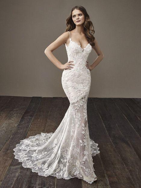 Blair dress (Mermaid, V-Neck, Spaghetti Straps,  Sleeveless ) from  Badgley Mischka Bride 2018, as seen on dressfinder.ca. Click for Similar & for Store Locator.