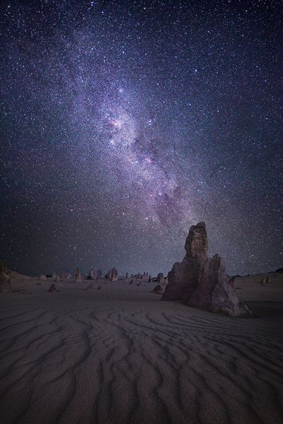 Spectacular Night Sky ~ Pinnacles ~ Western Australia
