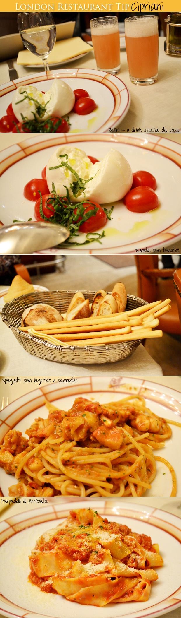 London Restaurant - Cipriani comida italiana 23-25 Davies Street, London W1K 3DE