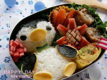 『ペンギンさんのお弁当(キャラ弁、デコ弁)』
