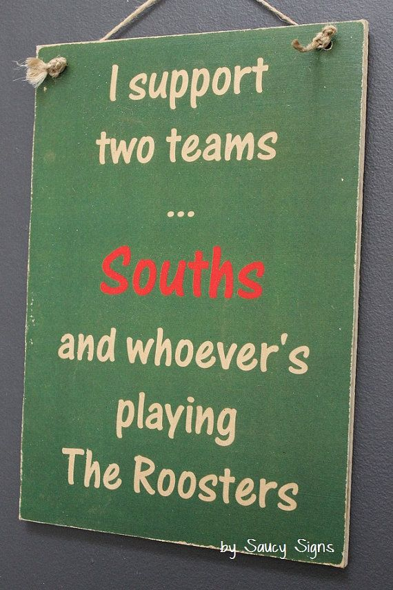 Souths South Sydney Rabbitohs versus Easts Roosters Rugby League Sign