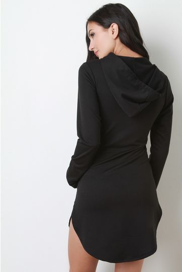 Extra long hoodie dresses