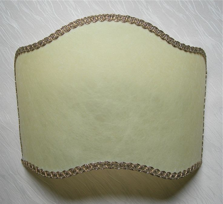 Wall Light Half Lampshade in Veined Parchment Wall Lamp