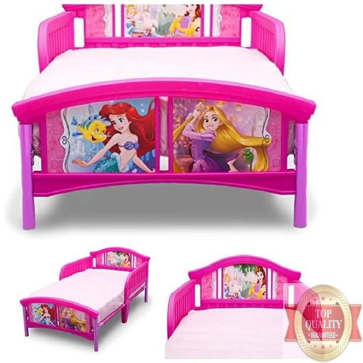 TRUSTED Disney Princess Toddler Kids Girls Bed Safe Guard Rails Delta Children #DeltaChildren