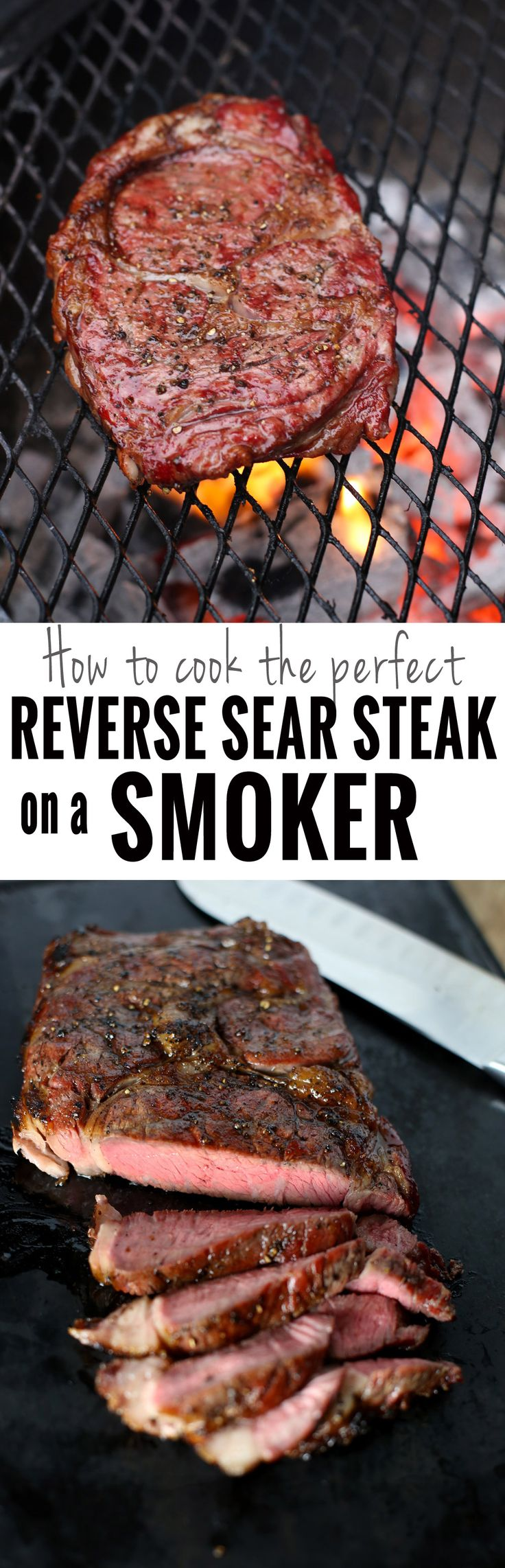 The Perfect Reverse Sear Steak using your Smoker. Using this method, you can get the perfect medium-rare steak at home using your smoker, then finishing on a hot grill.