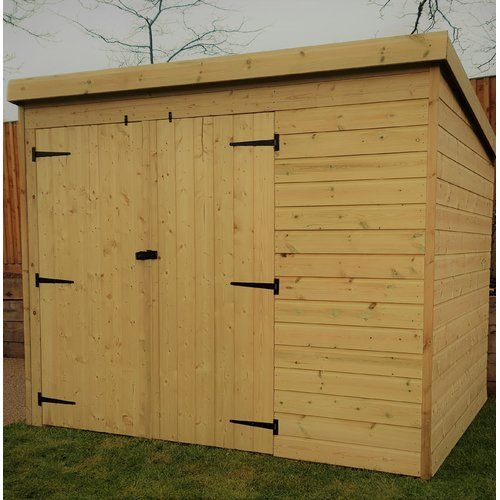 Union Rustic Bourg 7 Ft W X 7 Ft D Shiplap Pent Wooden Shed Wooden Sheds Shiplap Cladding Shed