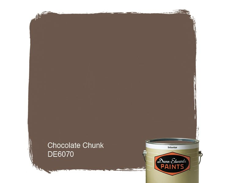 Dunn Edwards Paints Brown Paint Color Chocolate Chunk