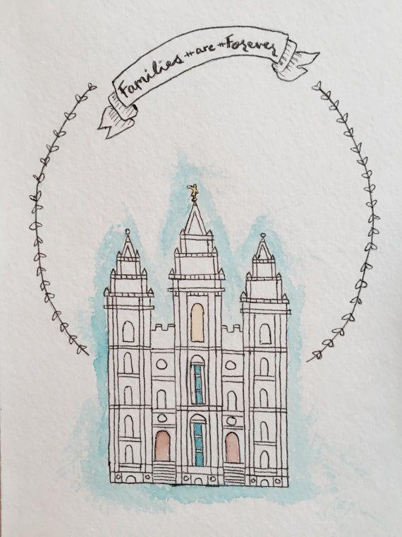 Salt Lake Temple Watercolor by KayTayCreates on Etsy