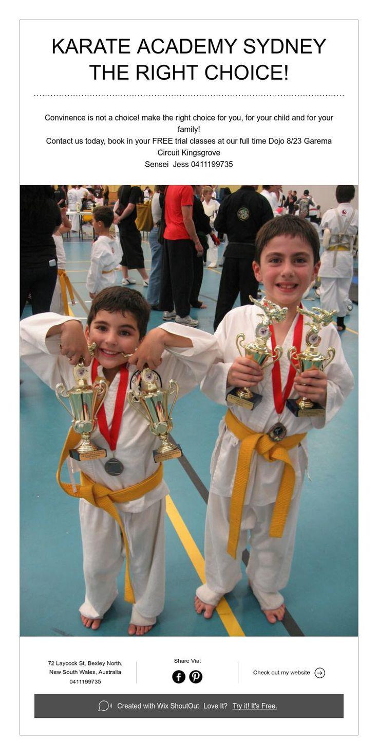 Karate Academy Sydney make the right choice