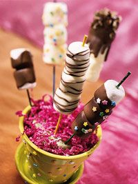 Chocolate Covered Marshmallows. Oh so many possibilities with these