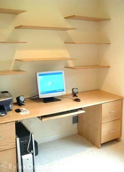 Office Desk With Shelves Google Search Desk Shelves Built In Desk Desk