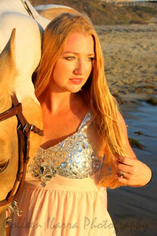 Horse and model