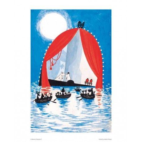 Moomin Poster Dangerous Midsummer Night 24 x 30 cm