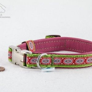 "Mini Leder Halsband ""love"" rosa  24,90€"