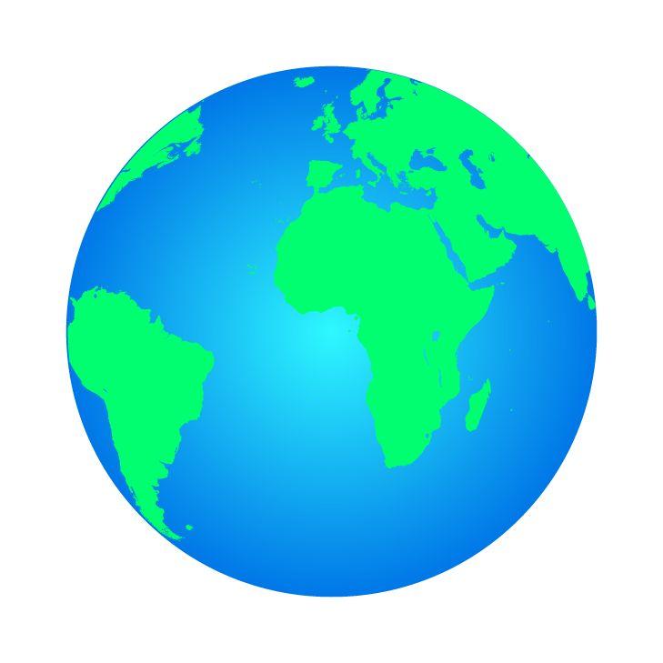 Vektörel Dünya Küre Görsel Çizimi