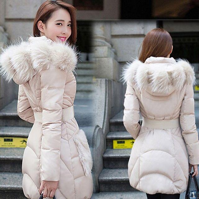 Campera Mujer Invierno 2015 abrigo de Invierno mujeres moda chaquetas y abrigos ropa de abrigo largo Parkas chaqueta de Invierno