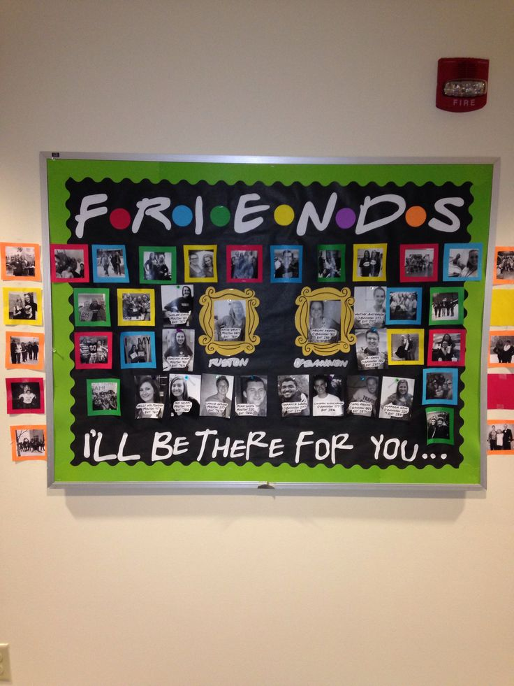 FRIENDS on-call bulletin board #reslife #doordec #ra Bulletin Boards
