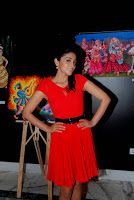 #ShriyaSaran Indian Mouth and Foot Painting Artists Event Stills