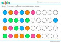 series logicas colorear fichas