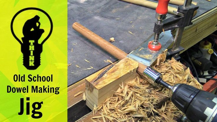 "It""s easy to make your own wood dowels for woodworking projects with this simple to make old school dowel making jig. Subscribe to see more projects - https:..."