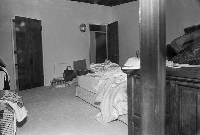 Marilyn Monroe's bedroom...the day of her death.